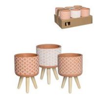 Maceta con 3 pies ceramica